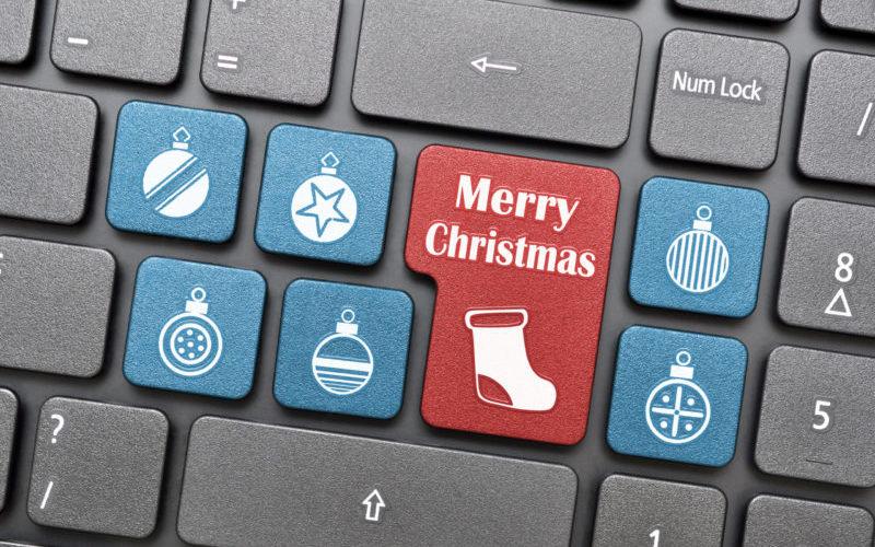 Merry Christmas on keyboard